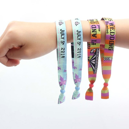 Embroidery Festival Polyester Wristband