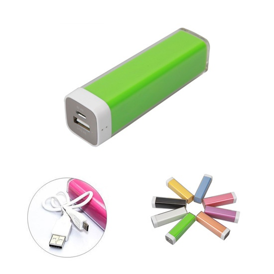 2600 mAh Plastic Pipe Portable Charger For Smart Phones