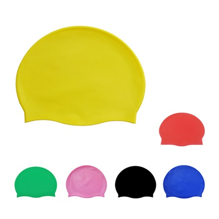 Solid Color Silicone Swim Caps For Adults