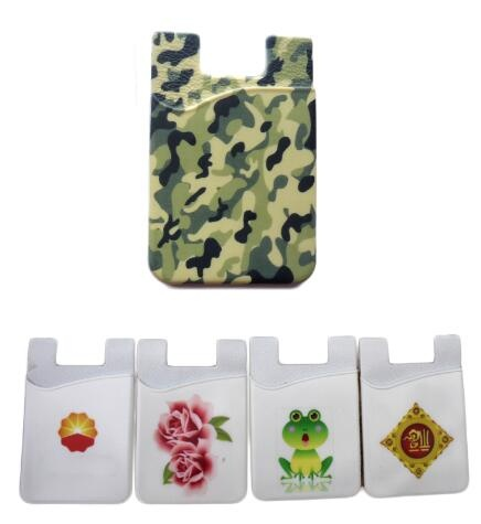 Adhesive Silicone Phone Wallet/ Card Case - Full Color Imprint