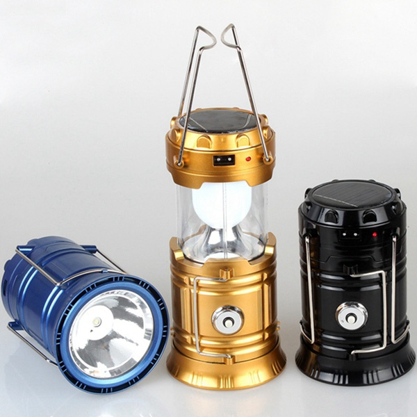 LED Solar and USB Charger Camping Lantern