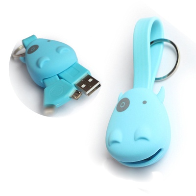 2 in 1 Portable Key Chain USB Sync Data Charger Cable