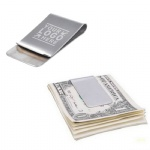 Silver Stainless Steel Slim Money Clip