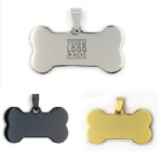 Personalized Front Back Engraving Stainless Steel Pet ID Tags