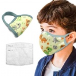 Kids 3-Layer  Safety Face Mask w/ filter Full Color o