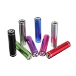 Cylindrical 2200 mAh Metal Portable Charger For Smart Phones