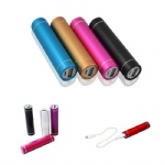 Cylindrical 2600 mAh Metal Portable Charger For Smart Phones