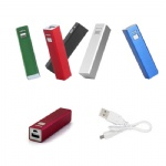 2200 mAh Metal Portable Charger For Smart Phones