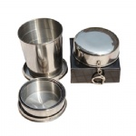 140 ml(5 OZ) Stainless Steel Foldable Medium Cup With Keyring