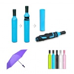 Foldable Compact Umbrella With Wine Bottle Case