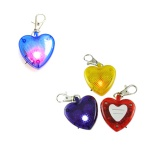 Clip-On Flashing Emergency Warning  LED Light With Lobster Clasps-Heart