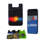 Full color Adhesive Silicone Phone Pocket for Cards/ Cash