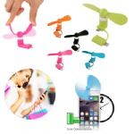 Micro Usb Flexible Mini cell phone Fan For Smartphones