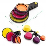 Collapsible Silicone Measuring Cups Measuring Spoons