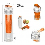 Infuser Flip Lid BPA Free Water Bottle
