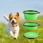 Food Grade Silicone 3-pack Collapsible Dog Bowl