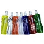 16 oz Foldable Water Bottle With Matching Carabiner