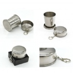 8Oz Stailess Steel Collapsible Cup