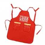 Custom Red Apron