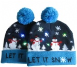 Xmas Knitted Beanie LED Christmas Hat Cap with Led Flash Light