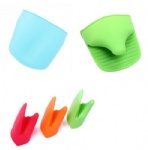 Silicone Heat Resistant Oven Mitts and Pot Holders
