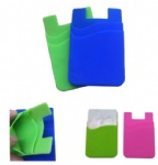 Adhesive Silicone Phone Wallet/ Card Case - Double Layers