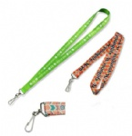 Polyester Keychain Lanyard For keys / ID / Cell Phone Holder With J Hook