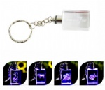 3D Engraved LED Crystal KeyChain
