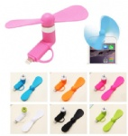 Portable 2-in-1 Mini Fan for Phones