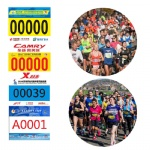 Marathon Race Numbers Bibs With Pin