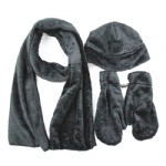 Winter Fleece Scarf and Gloves Set