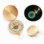 Luminous Copper Clamshell Compass