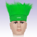 Flag Football Soccer Fans Wig Head Cap For Sports Carnival