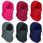 6 in 1 Fleece Neck Balaclava Winter Face Hat