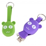 Panda Shape 2 in 1 Charge Data Sync Cable Mini Key Chain